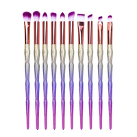 FOLUREE Unicorn Makeup Brushes Set 10pcs Professional Eye Shadow Eyebrow Lipstick Eyeliner Cosmetic Tool Mermail Fish