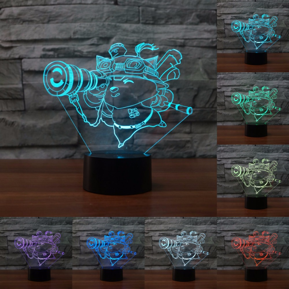 Creative led Hero Union Debon Explorer Table Lamp USB table desk Acrylic 3D light LED Lamp Shape Lampe Led Night light IY803812