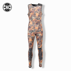 Image 5 - SLINX 2 Pieces Camouflage Hooded Wetsuit Set Sleeveless Scuba Diving Suit+Jacket Keep Warm Spearfishing Wet Suit 3mm Neoprene