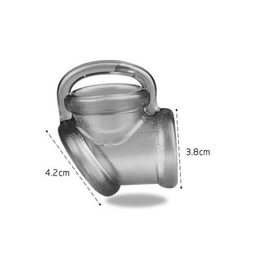Zerosky Male Scrotal Binding Cock Ring Sex Toys Silicone Time Delay Penis Ring Scrotum Ring Chastity Cage Penis Sleeve for Men 10