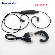 New Bluetooth V5.0 0.75mm 2 Pin for Logitech UE TF10 TF15 5pro SF3 Earphones HIFI Headset Cable for iPhone 7 8 x Samsung Xiaomi(China)