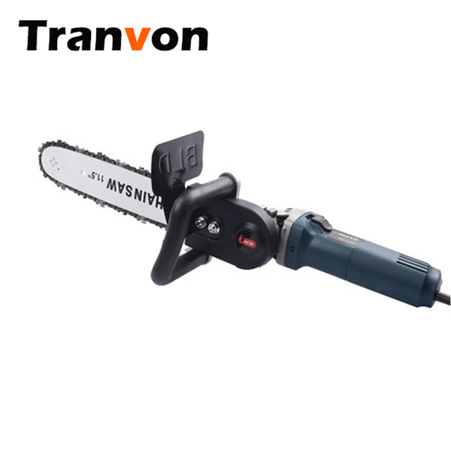 "TRANVON Multifunction Electric Chain Saw Converter Bracket DIY Set For 100mm 4"" Electric Angle Grinder Woodworking Tool QF-D001"