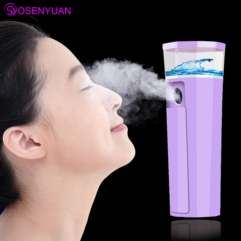 Hot Portable Nano Mist Sprayer Facial Body Nebulizer Steamer Moisturizing Skin Care Mini USB Face Spray Beauty Instruments in Powered Facial Cleansing Devices from Home Appliances