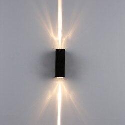 6 واط الألومنيوم أضواء الجدار في الهواء الطلق مقاوم للماء الجدار مصباح الباحة مصابيح حديقة الشرفة صعودا وهبوطا شمعدانات جدارية BL17