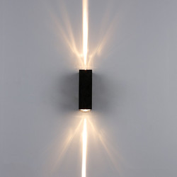 Lámparas de pared de aluminio de 6 w, lámpara de pared impermeable para exteriores, luces de jardín de Patio, luces de pared de arriba y abajo BL17