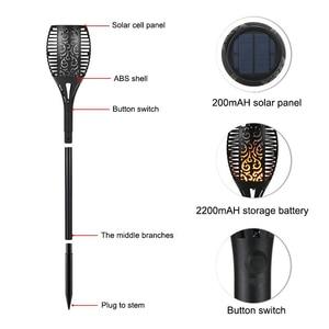 Image 5 - Tocha led com 96 lâmpadas, à prova d água, energia solar, para áreas externas, decoração para paisagem, para jardim