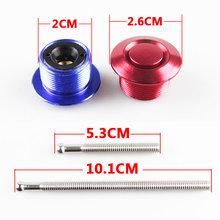 Universal Push Button Billet Mini Hood Pins Lock Clip Kit Car Quick Latch New For FORD Mustang 4.6L V8 96-04  RS3-ENL012