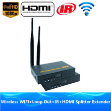 196ft Wi-fi Video Audio Transmission WIFI HDMI Extender 60m With IR 1080P Wi-fi HDMI Transmitter Receiver Like Splitter