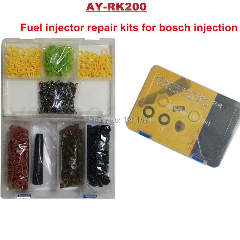 ФОТО 200sets/ box universal  injector repair kits for bosch fuel injectors for Ford 4.6 5.0 5.4 5.8 Replaces 0280150943 AY-RK200