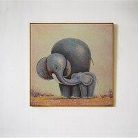 Karikatür Yaban Hayatı Bebek Fil Resim 3 Panel Seti Tuval Baskı artı 50% Yağlıboya Ev Duvar Sanat Oturma Bedroom dekor