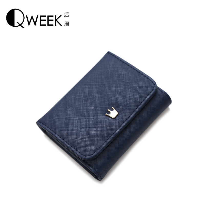 Wallet Female 2016 New Crown Lady Short Women Wallets Mini Money Purses Fold PU Leather Bags Female Coin Purse Card Holder B619