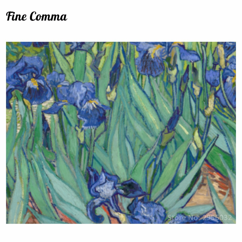 Irises Irises Iris 1889 by Vincent van Gogh Қолмен - Үйдің декоры - фото 6