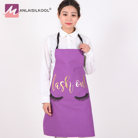 Purple Apron Cotton Sleeveless Kitchen Apron Household Cleaning Halterneck Printed Fashion Coffee Shop Work Apron 2018