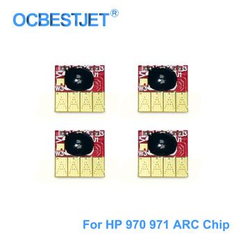 970 971 łuku Czip do drukarek HP 970XL 971XL automatycznego resetowania Czip do drukarek HP Officejet Pro X451dn X451dw X551 X576dw X476dw X476dn stałym układzie tanie i dobre opinie OCBESTJET Printer For HP 970 971 Oddzielone kasety Hp laserjet Układ kaseta Cartridge Chip Chip For Ink Cartridge ARC Chip