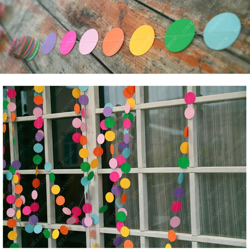 Разноцветная Радужная круглая гирлянда в горошек, баннер, флажки, украшение для свадьбы, праздника для будущей мамы, дня рождения, висячая г...