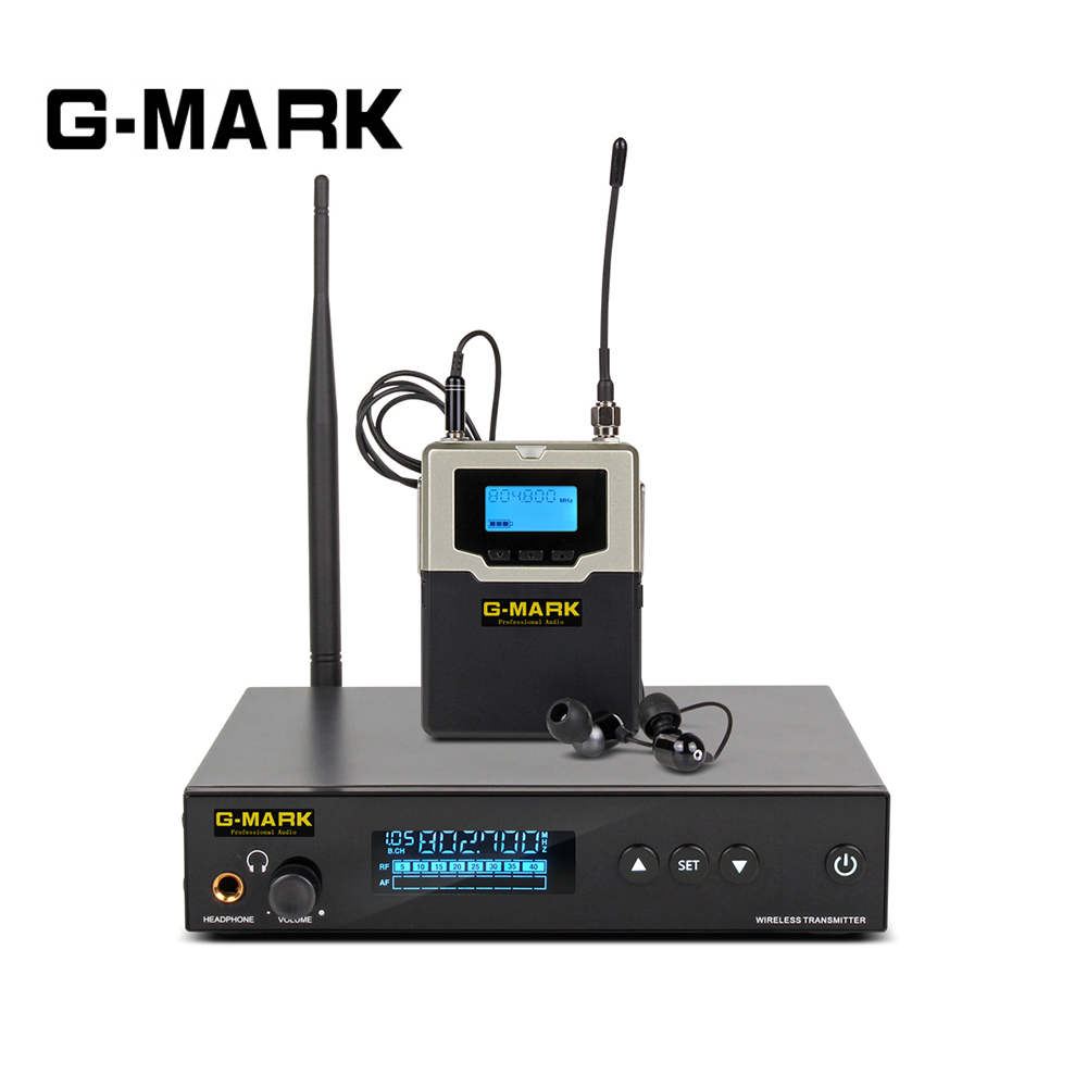 G MARK PSM 500 In Ear Monitor live system UHF wireless Stereo Personal Receiver Stage headphones