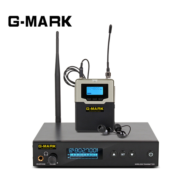 G MARK PSM 500 In Ear Monitor live system UHF wireless Stereo Personal Receiver Stage headphones 1channel 1 Sound Earphones