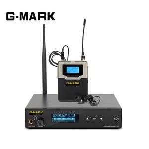 Image 1 - G MARK PSM 500 dans loreille moniteur système en direct UHF sans fil stéréo récepteur personnel scène casque 1 canal 1 son écouteurs