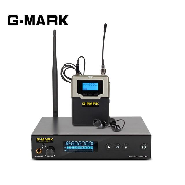 G MARK PSM 500 dans loreille moniteur système en direct UHF sans fil stéréo récepteur personnel scène casque 1 canal 1 son écouteurs