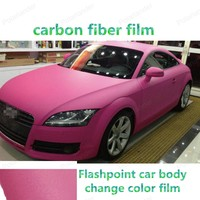 Лучшая цена Автомобиля Стиль Углеродного Волокна Виниловая Пленка 152*20 см вспышки изменение цвета кузова фильм Водонепроницаемый DIY цвет Wrap
