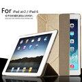 Para apple ipad air2 9.7 pulgadas cubierta del caso del sueño inteligente, ultra delgado caso deformar diseñador cuero de la tableta para ipad 6