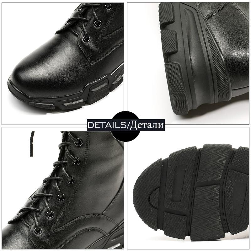 Mujeres black Cuero Militar De black Cruzado black Negro Zapatos Redonda Dedo Plataforma Plush Del Wetkiss Atado Casual Botas Motocicleta Tobillo Short Femenino Plush Calzado Invierno Pie wqa86vg7