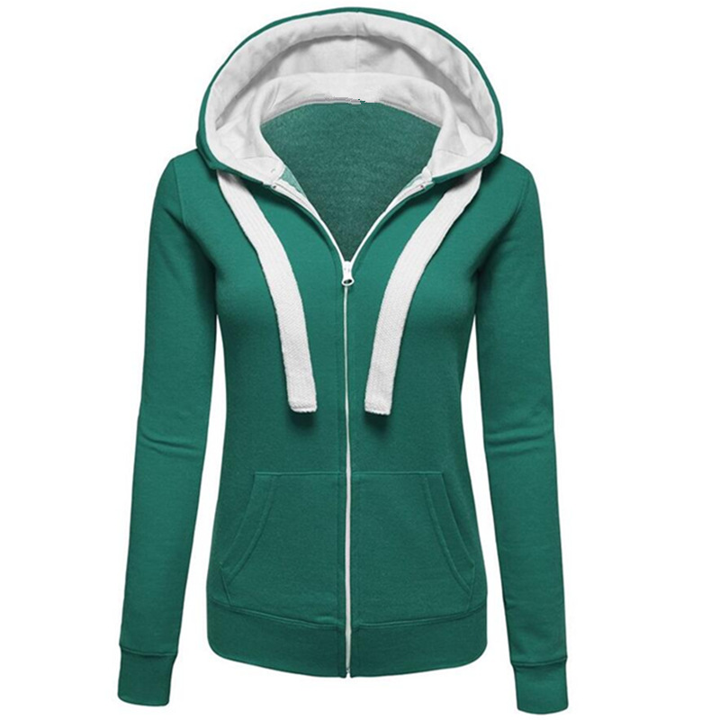 LOHILL Fashion Ladies Sweatshirt Zip Jacket Coat Hoodie Jumper Womens Plain  Warm Hooded Hoody-in Hoodies   Sweatshirts from Women s Clothing on ... b7dc844a2