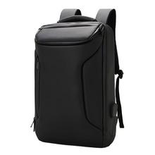 Work Men Backpack Business Bag Unisex Black Ultralight Thin Back Pack  Slim Laptop