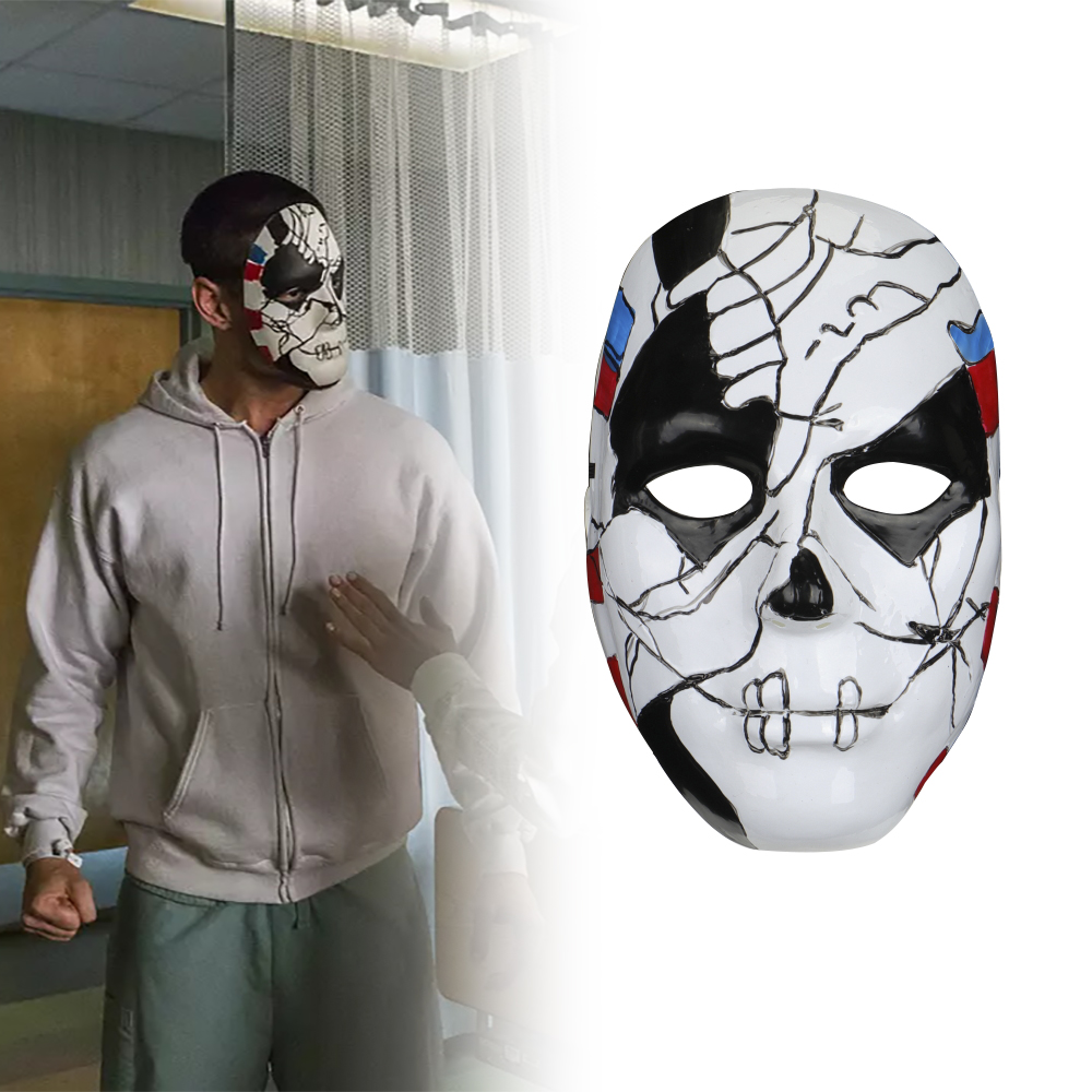 The Punisher 2 Billy Russo Cosplay Mask Plastic Costume Props Halloween Masquerad Mask Unisex Adult Coser in Costume Accessories from Novelty Special Use