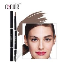 Cocute 1Pc Eyebrow 2 en 1 Automático Lápiz Maquillaje Pintura Ceja Pluma Cosméticos Cejas Impermeables Herramientas 4 Colores Nueva Venta Caliente 2018