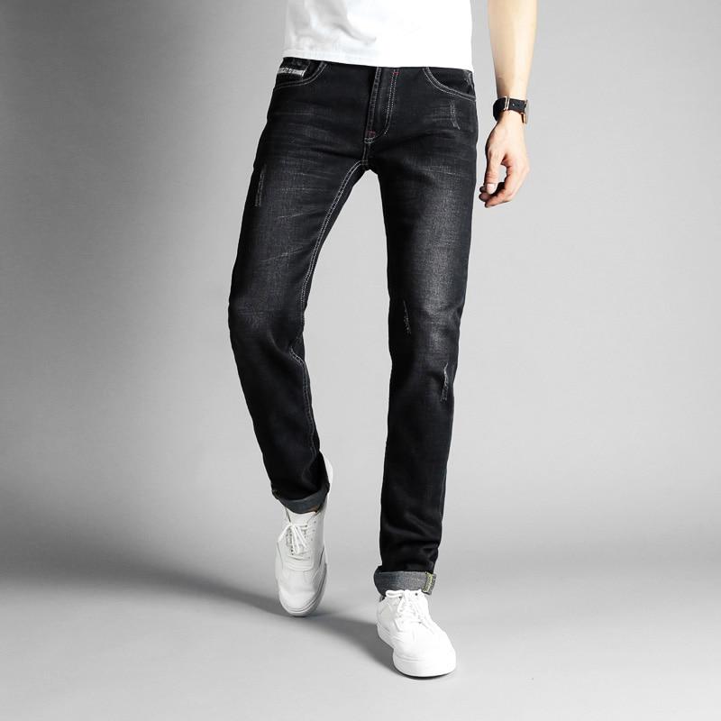 2018 Fashion Designer Mens Jeans Black Color Cotton Skinny Jeans Stretch Denim Casual Pants Balplein Brand Classical Jeans Men