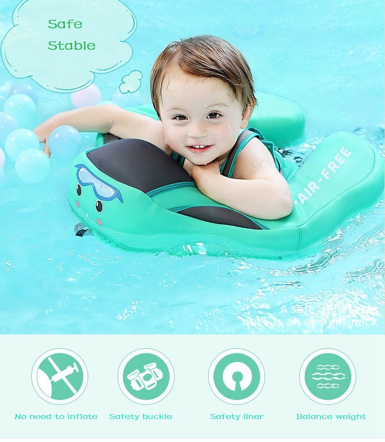 Baby Swimming Ring Solid No Inflatable Safety For accessories floating Floats Swimming Pool Toys (1)