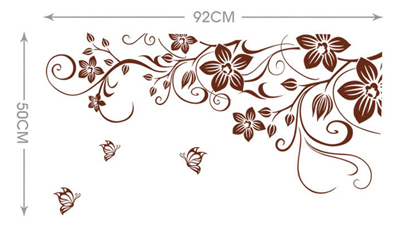 Newly Wall Sticker Vinyl Removable Flowers Waterproof Decal Living Room Decor