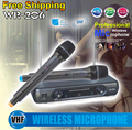 Professional Wireless Microphone System WR-206 Dual Handheld Mic With Receiver For Karaoke Stage KTV Singing Microfone Sem Fio