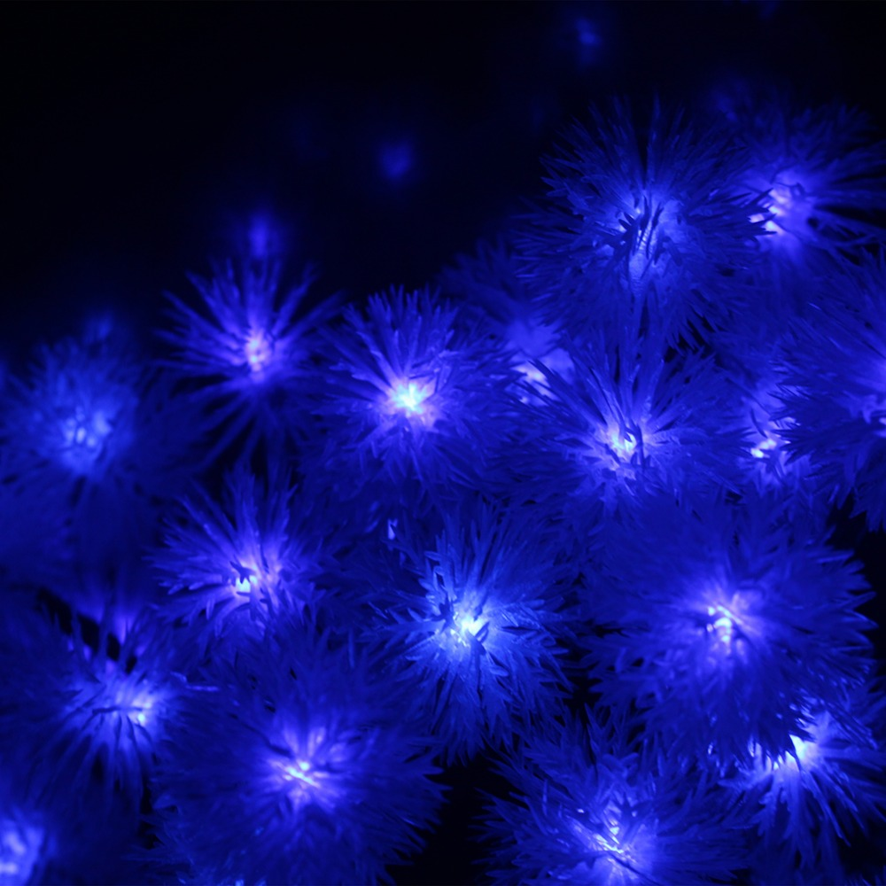 5M 50LED Holiday Snow Flakes Garlands LED String Lights Battery Operated Ferias LED Luzes Cordas Bateria Events and Party Light (1)