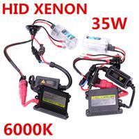 Best Price HID Xenon Kit Car Headlight Slim Ballast 35W H1 H3 H7 H8 H11 9005 9006 Xenon Bulb DC12V Auto Car Styling FreeShipping