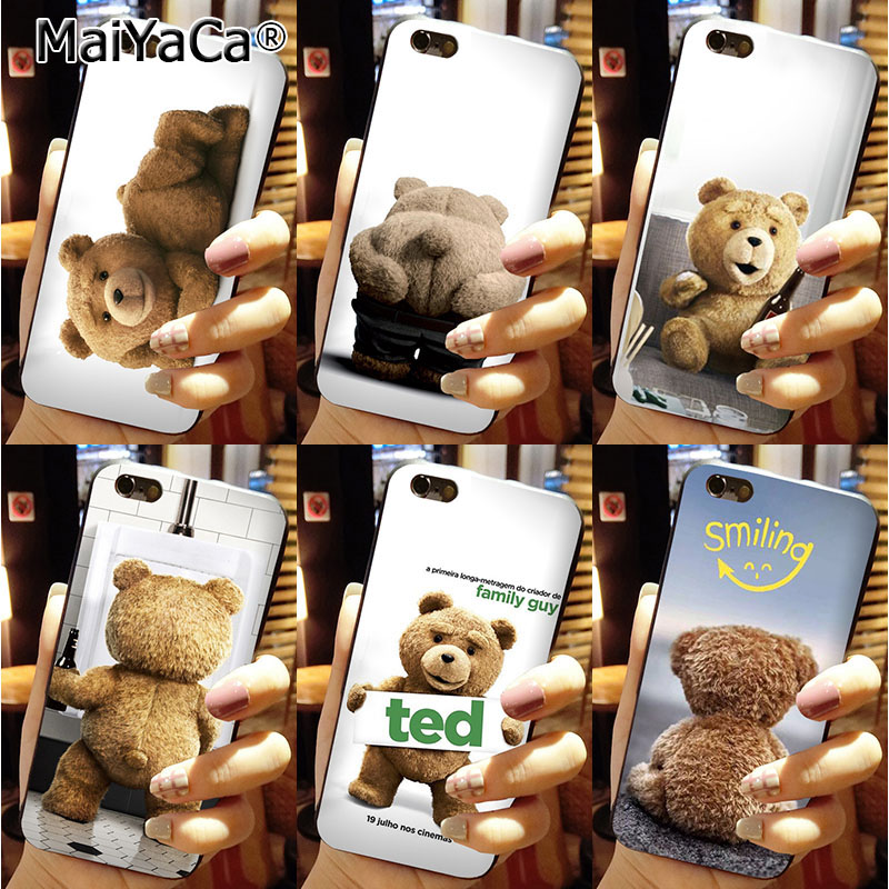 MaiYaCa Printing <font><b>Drawing</b></font> protection <font><b>phone</b></font> Cover For iPhone 6s plus 6plus <font><b>Case</b></font> Lovely brown teddy <font><b>bear</b></font> cartoon