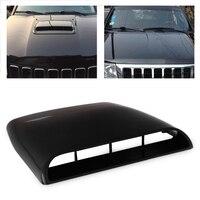 CITALL Black White Grey 1pc Car Universal 4x4 Air Flow Intake Hood Scoop Vent Bonnet Decorative