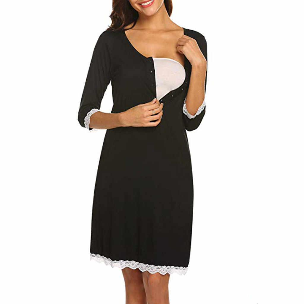 Кружевное платье для кормящих мам; одежда для сна; спортивный костюм; платье для грудного вскармливания; платье для беременных; летнее платье; L320