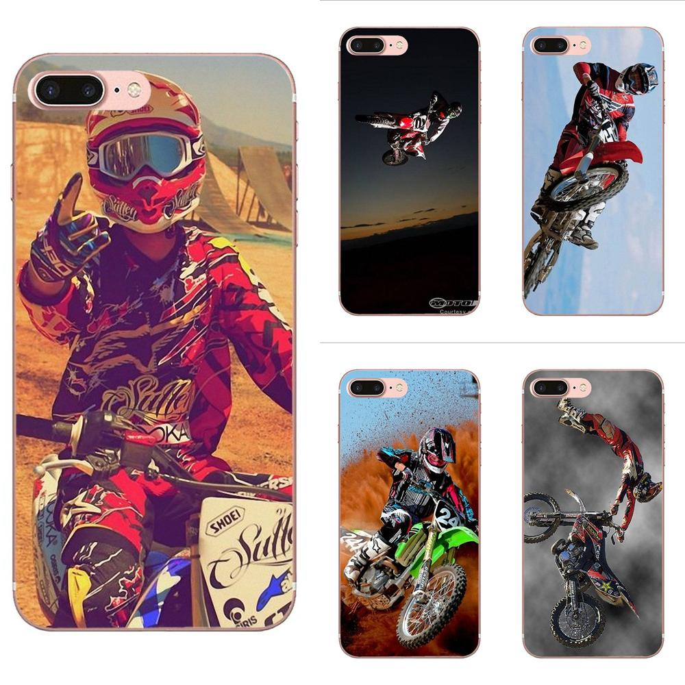Motocross Mx Raiders Supercross Dirtbike Freestyle Ama TPU <font><b>Case</b></font> Cover For Apple <font><b>iPhone</b></font> 4 4S 5 5C <font><b>5S</b></font> SE 6 6S 7 8 Plus X XS Max XR image