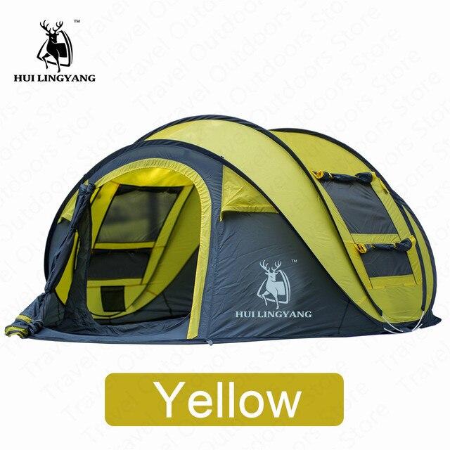 HUILINGYANG Tent Quick Open Camping 6
