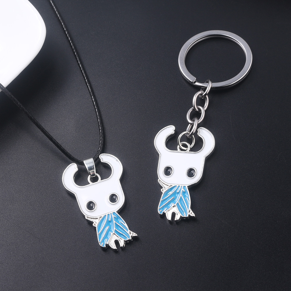 20pc lot Hollow Knight Necklace Game Cartoon Figures Leather Rope Pendant Choker Women Men Jewelry Gifts