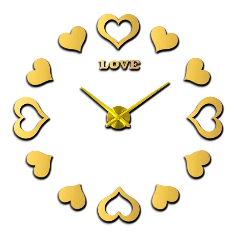 2020 Sticker Relojes de pared decorativos Diseño moderno Decoración de la boda Inicio Reloj de pared 3d Nuevo Reloj de pared grande Envío gratis