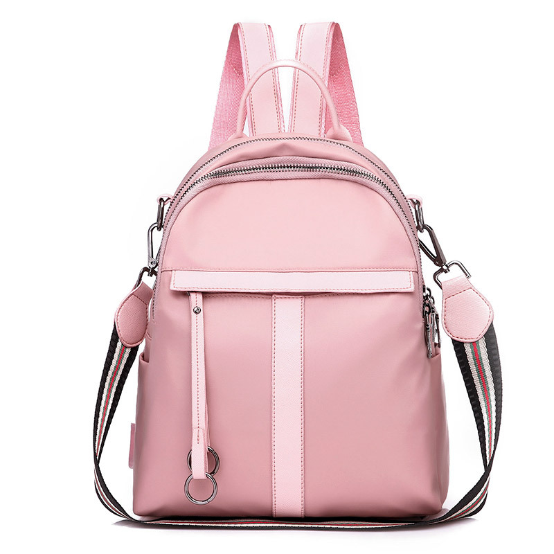 New fashion Women bag backpacks for teenager girls waterproof nylon colleage bag pink black simple Multifunction travel backpack new fashion black women bag backpacks for teenage girls waterproof nylon colleage bags ladies zipper travel backpacks