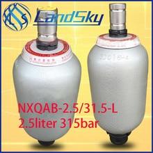 hydraulic accumulator charging high pressure calculation NXQ-2.5/31.5-L volume 2.5L 315bar