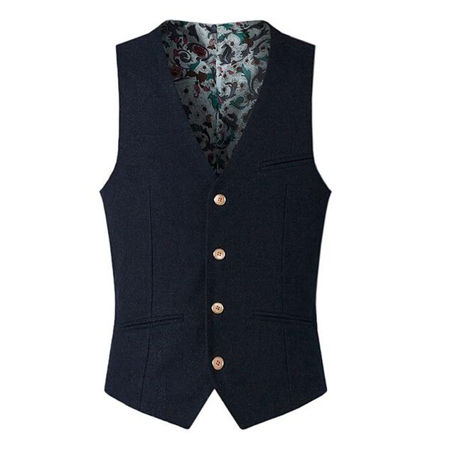 Men's business casual vests 2016 autumn new Slim Men Waistcoats Sleeveless Mens Dress Vest Male Plus Size XXL Free shipping