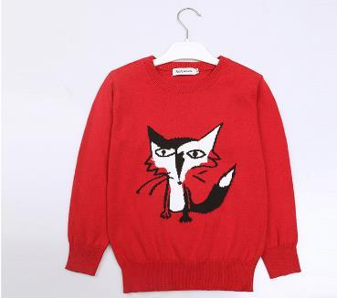 2016 new  boys sweater  Brand red Baby Kids Sweater  Children 3-12 Years Old Sweater pull fille pull garcon