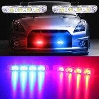 DC 12V 2x4 Led Strobe Warning Light Car Truck Light Flashing Firemen Lights Ambulance Police Light