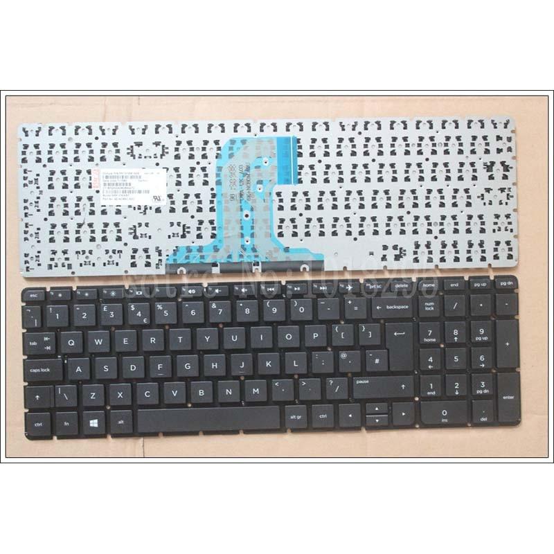 New UK Laptop Keyboard For HP 250 G4 256 G4 255 G4 15-ac 15-ac000 15-af 15-af000 No Frame Teclado Keyboard PK131EM1A09 NSK-CWASC