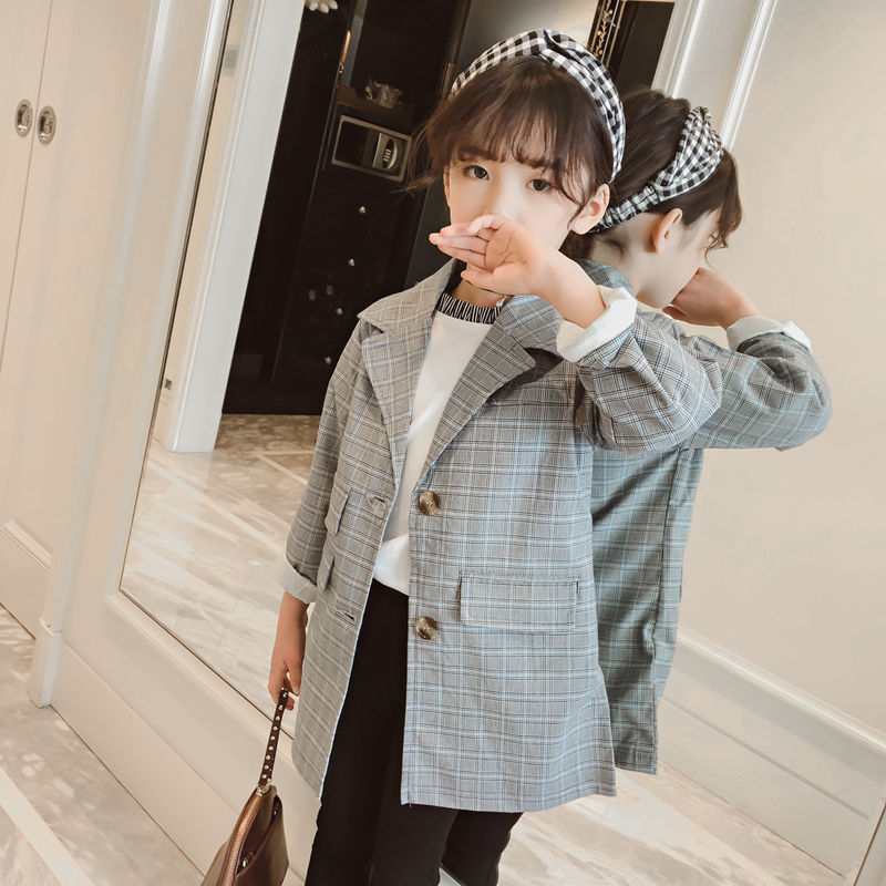 c94223e38 2018 New Spring   Autumn Kids Suits Jacket for Girls Children Brand ...